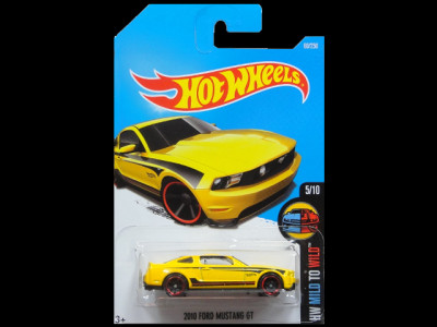 HW MILD TO WILD 2010 FORD MUSTANG GT yellow1