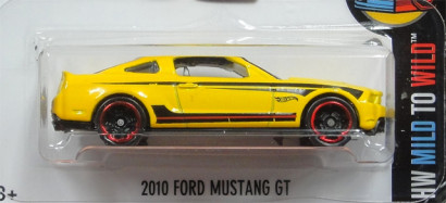 HW MILD TO WILD 2010 FORD MUSTANG GT yellow2